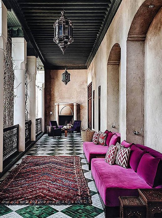 A Moroccan escape replete with design inspiration. Photo by @heydavina.