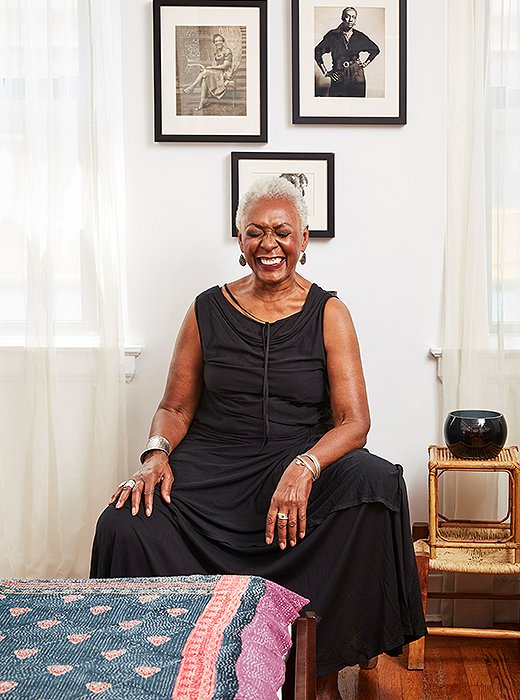 Bethann Hardison enjoys the moment, at home.
