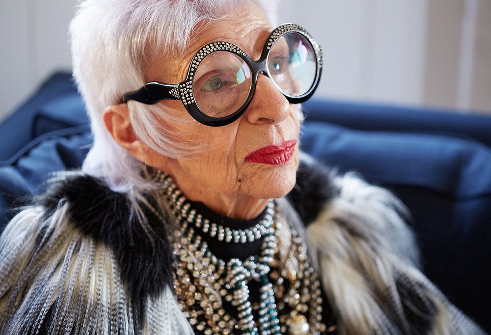 71589e5412 Take a Lesson in Accessorizing from Iris Apfel
