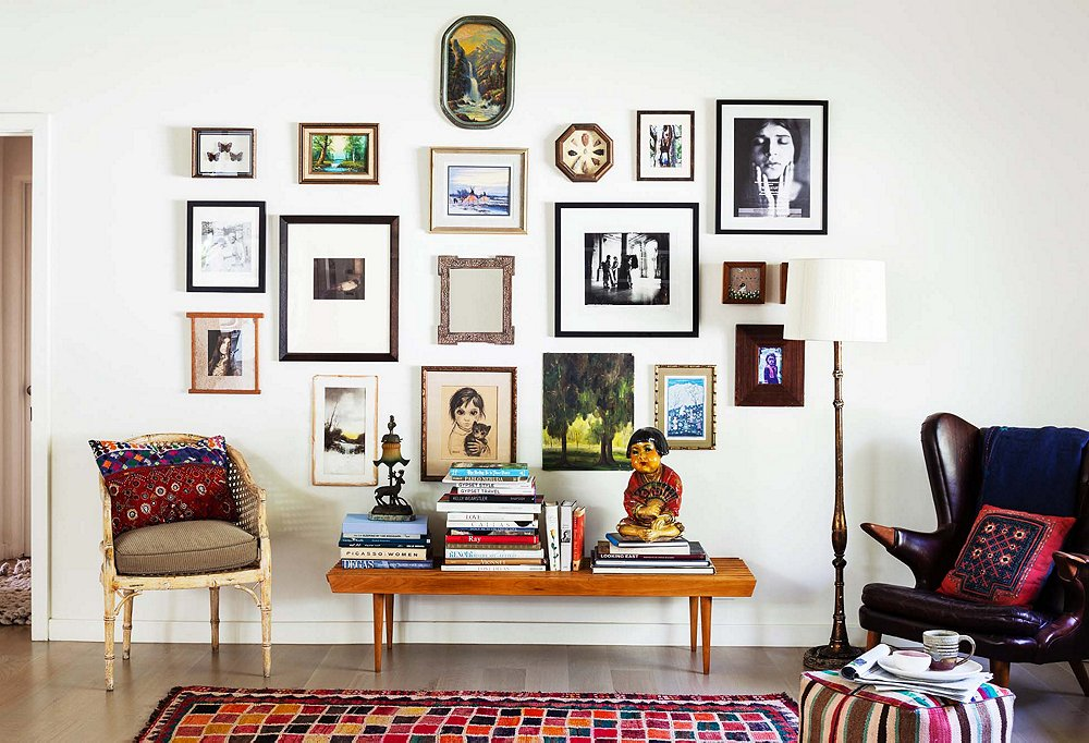 Shivas Ever Evolving Salon Style Wall Backed By Her Favorite Warm But