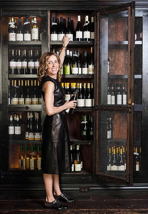 Sommelier/co-owner Caroline in the private dining room, dubbed the wine room by the team.