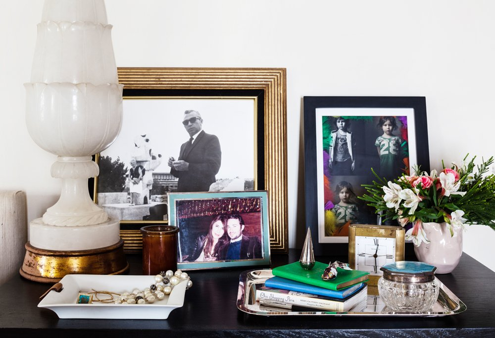 """I don't like having a lot of stuff on my nightstand,"" says Estee. ""I like everything to be really pretty on my nightstand, not stacks of books and paper piled up on it."""