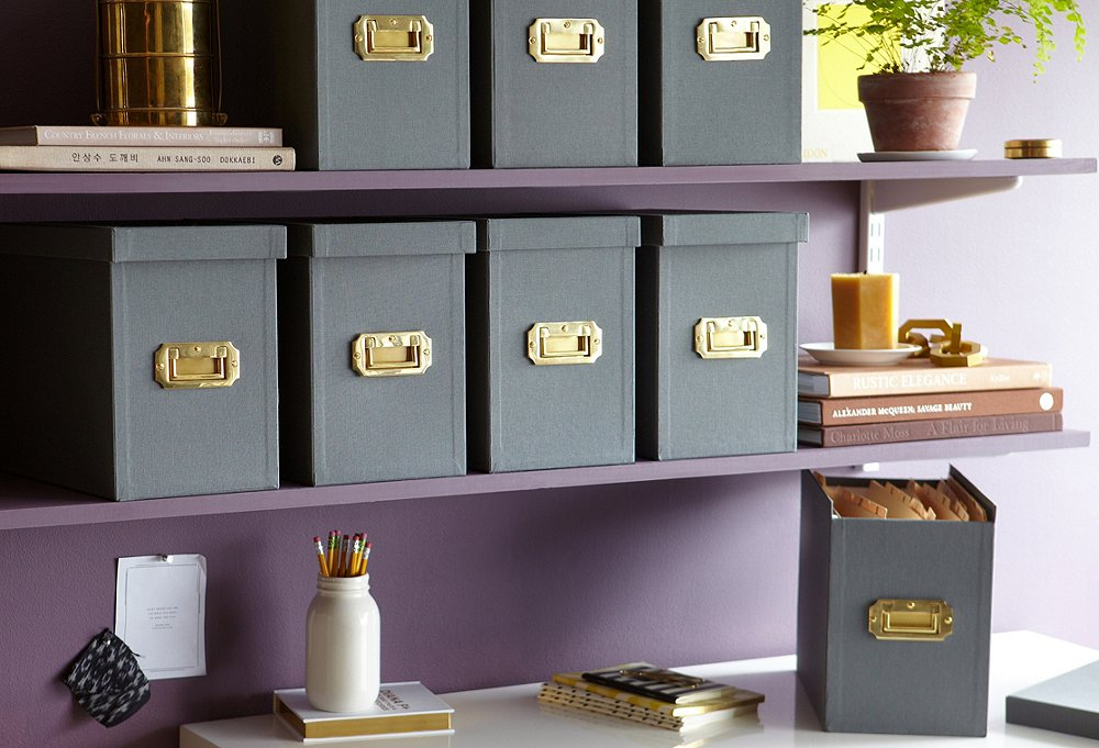 a stylish storage box upgrade - Decorative File Boxes