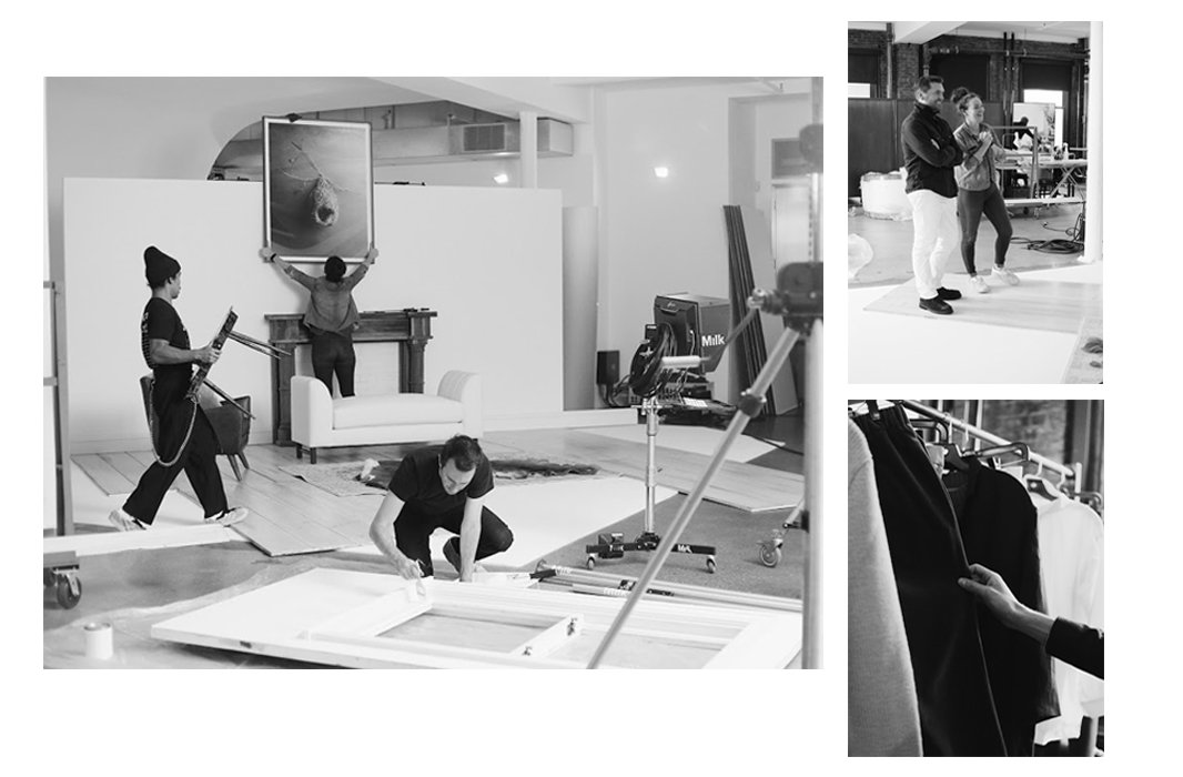 Creative minds at work behind the scenes. Photos by Taylor Swaim.