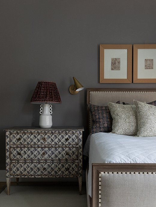 Dusty gray is the perfect foil to the white and bright palette throughout the downstairs living area.