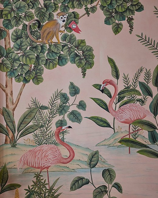 The de Gournay team hid among the flora and fauna subtle nods to the Colony's mythology, such as its mascot, Johnnie Brown.
