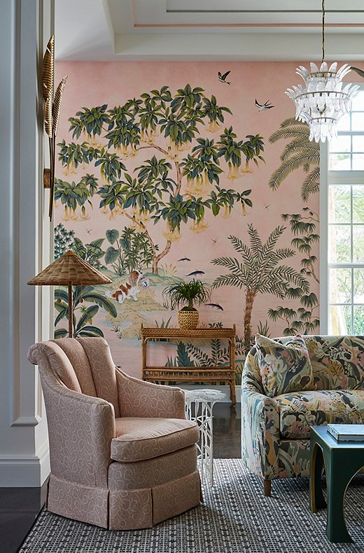 Mimi and her team went with a wild mix of pattern to bring the untamed aspect of Florida to life.