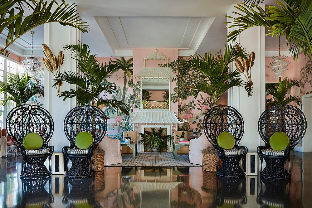 Tour the Iconic Colony Hotel Lobby