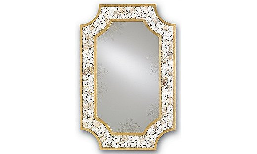 The Margate Oyster Shell Mirror features scores of hand-applied shells.