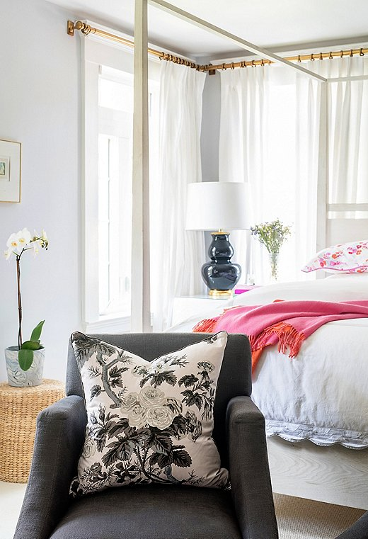 """Courtland's master bedroom is a work in progress but she loves it. """"If it was done, I'd have to move!"""""""