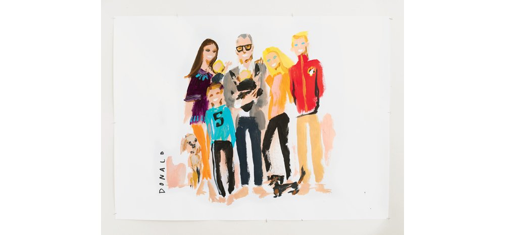 Above: An illustration of Donald and his family. To add some pretty to your feed, follow Donald on Instagram @donalddrawbertson