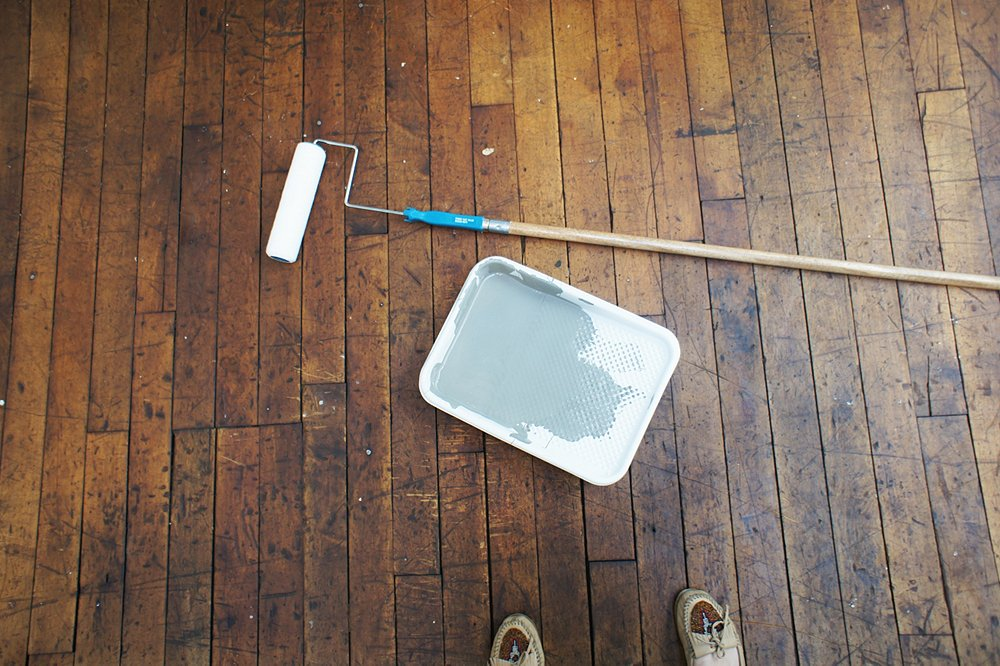 prep your floors - Paint For Wooden Floor