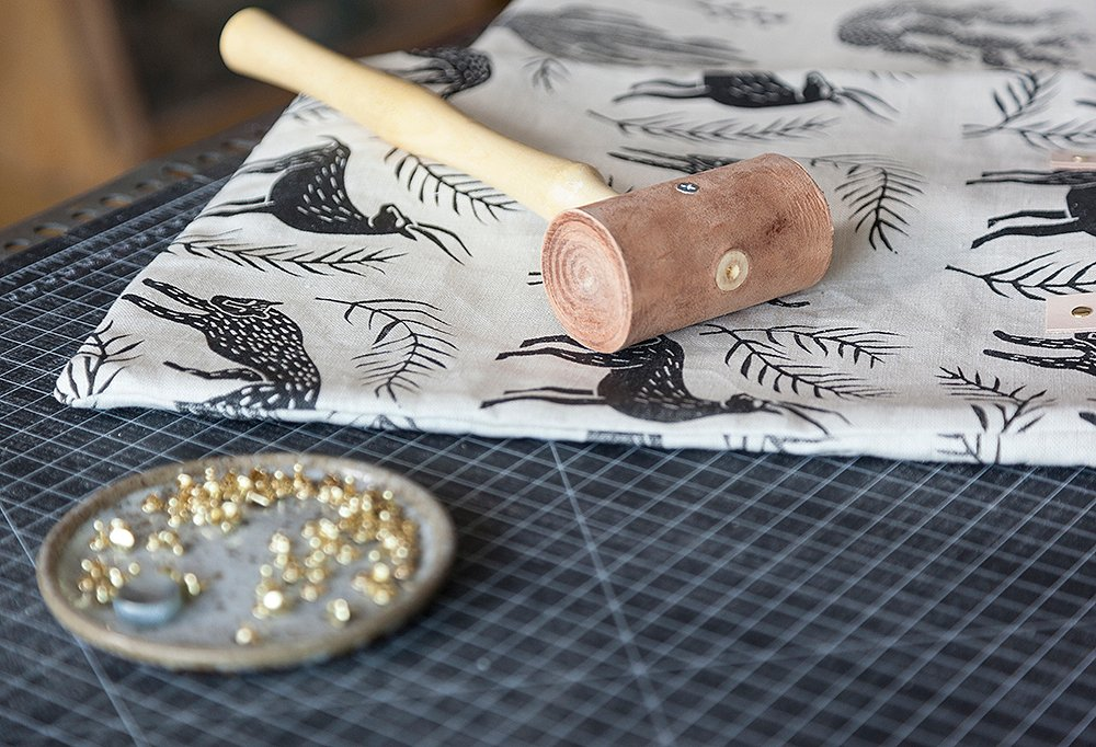"""""""I just started printing on leather,"""" says Mancini. """"I really like it: It's a completely new medium for me."""""""