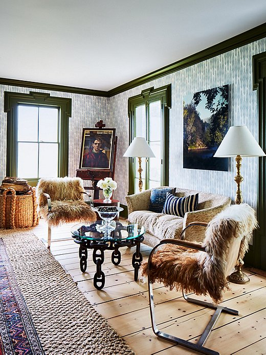 Mixing styles and eras is how Heide creates spaces with history and depth. The living room exemplifies this technique while bringing in layers and layers of texture.