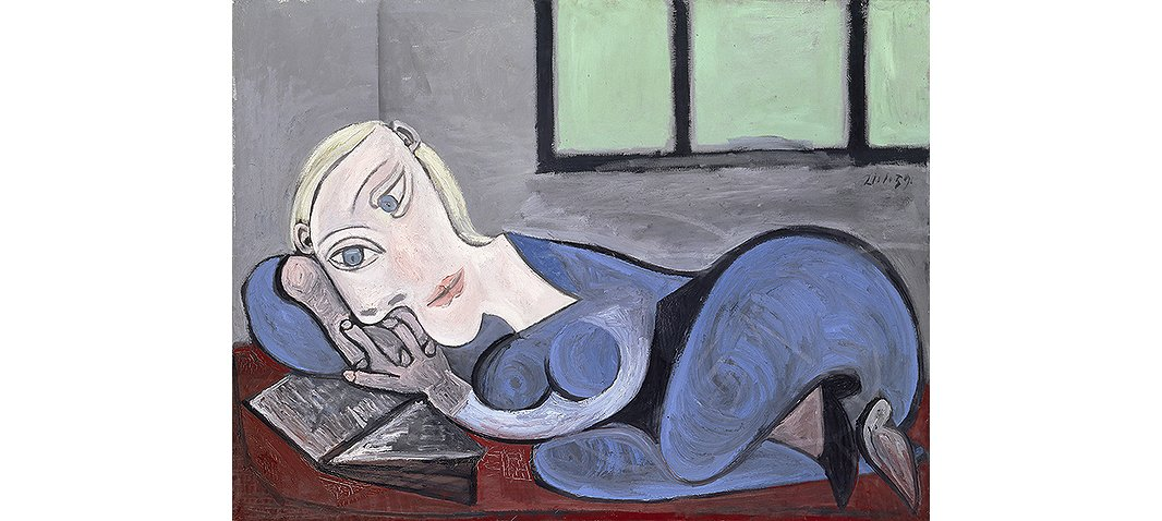 Picasso produced several works titled Femme couchée lisant (Reclining Woman Reading). This one is from 1939.