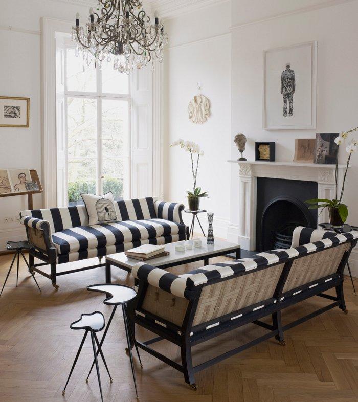 Gingham Stripes And Floral Design