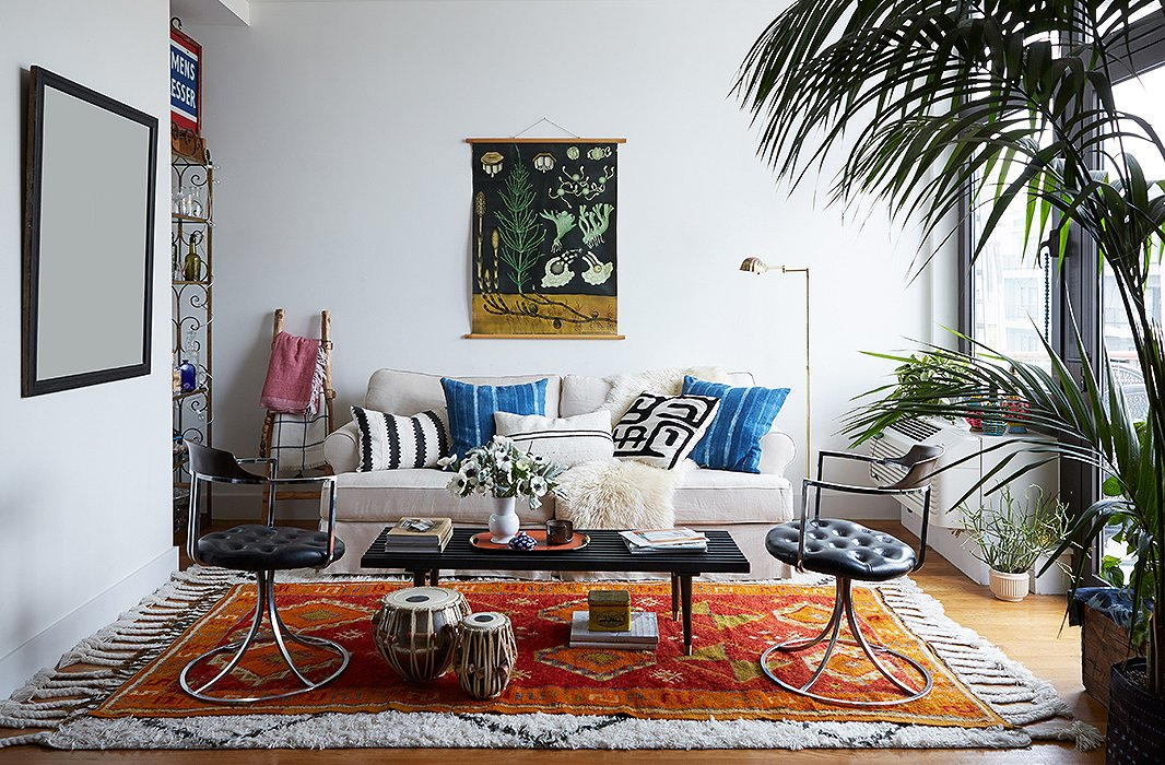 Rug Layering Modern Living Room