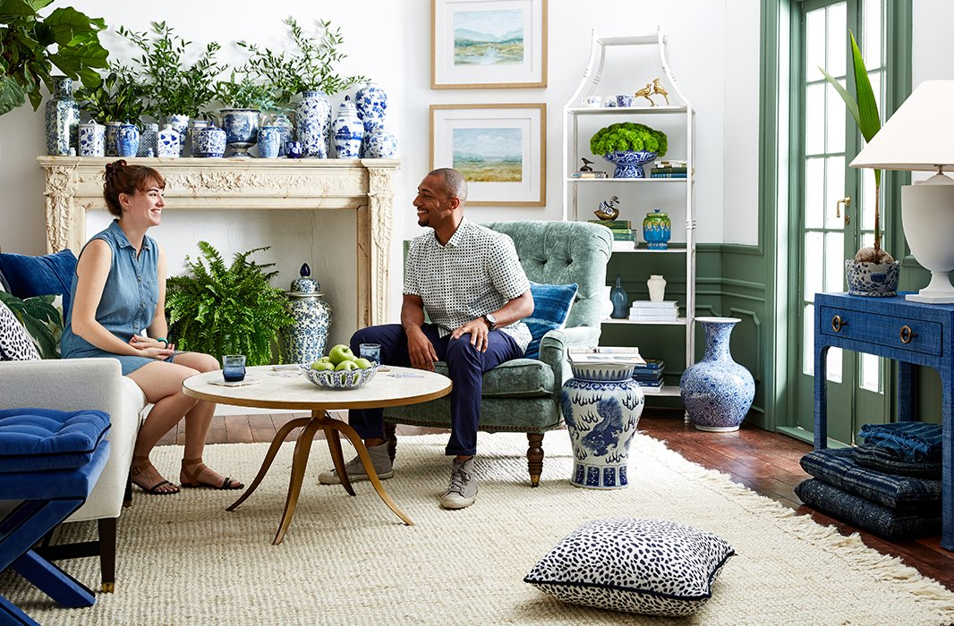 Stylist Erika Engstrom and photographer Frank Tribble kick back in their airy, inviting space.