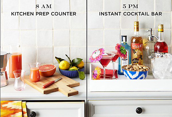 Easy Decorating Projects: Add Kitchen Counter Space — Live.Love.Home