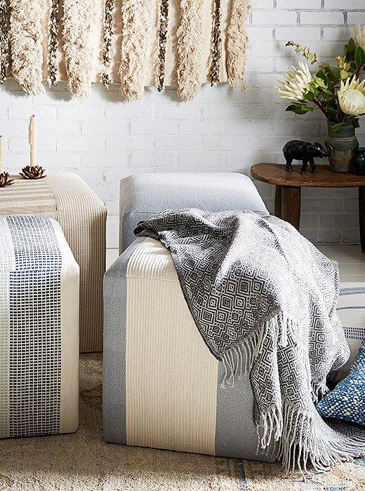 Detailed with an allover diamond pattern, the Manorca Throw is hand-loomed of ultrasoft alpaca wool by artisans in Peru.