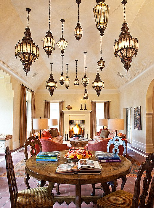 More is more when it comes to Moroccan lanterns. Photo by Grey Crawford, courtesy of Fisher Weisman.
