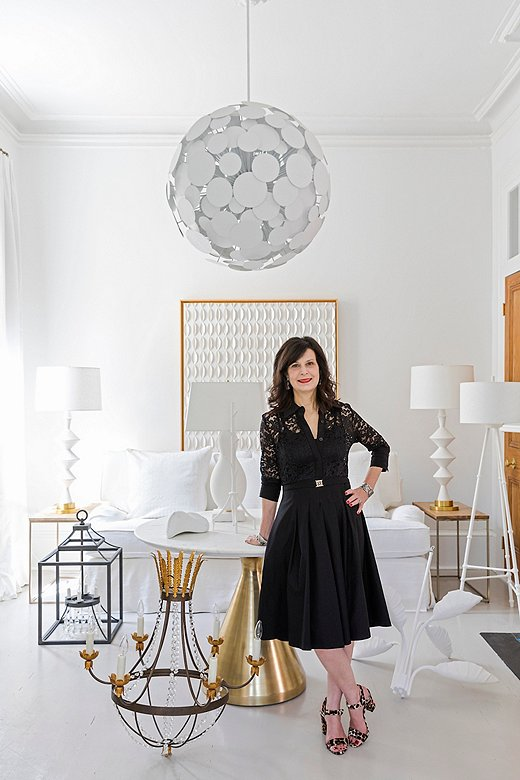 Designer Julie Neill in her New Orleans home.
