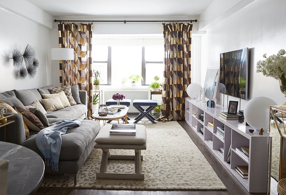 A Glam One Bedroom Apartment Makeover One Kings Lane Style Blog