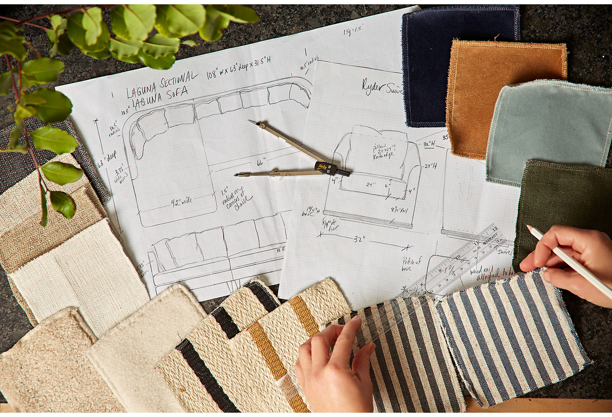Kim designed each piece in the collection for stylish everyday living.