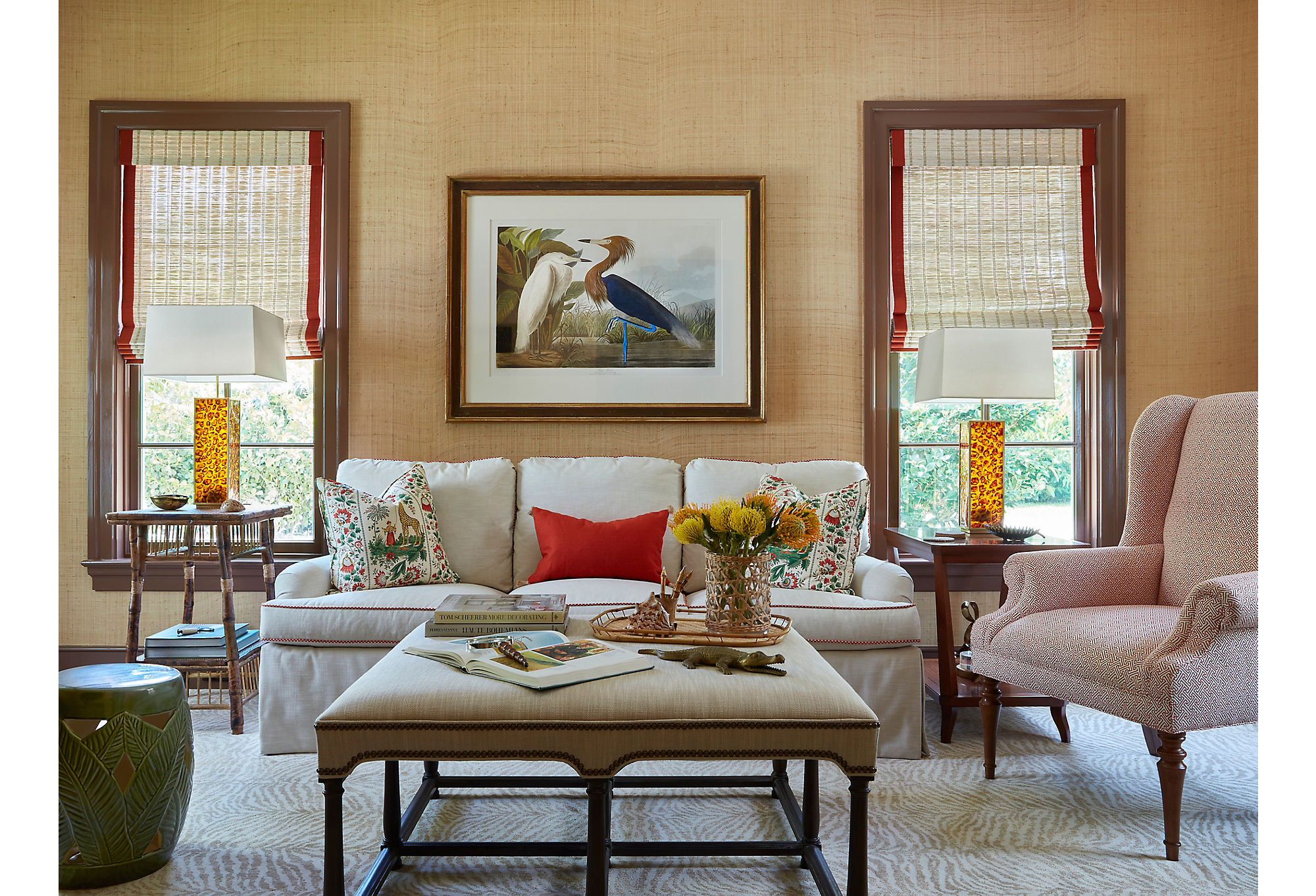 Classic Audubon prints throughout the home are classic touches of Old Florida, a time before major development. They're wonderful reminders of the raw, natural beauty the Sunshine State still holds.