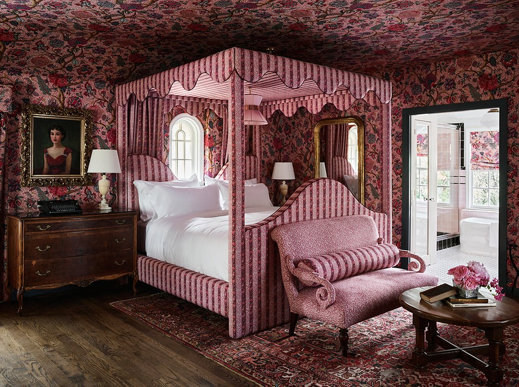 The LaVerne Suite in the Commodore Perry Estate, a 1928 mansion in Austin, TX, that Ken helped transform into a pampering hotel.
