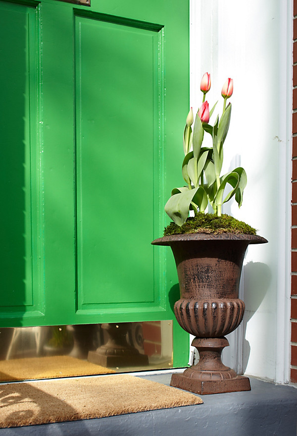 Front door makeover for Classic house kick