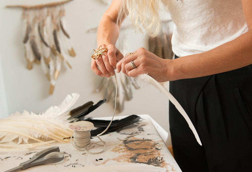 Of all the materials and items she works with, Kristen considers her hands to be her most valuable tool.