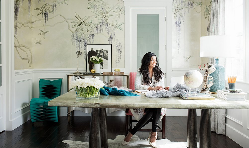 Inside Rachel Roy S Impeccably Elegant Home Office