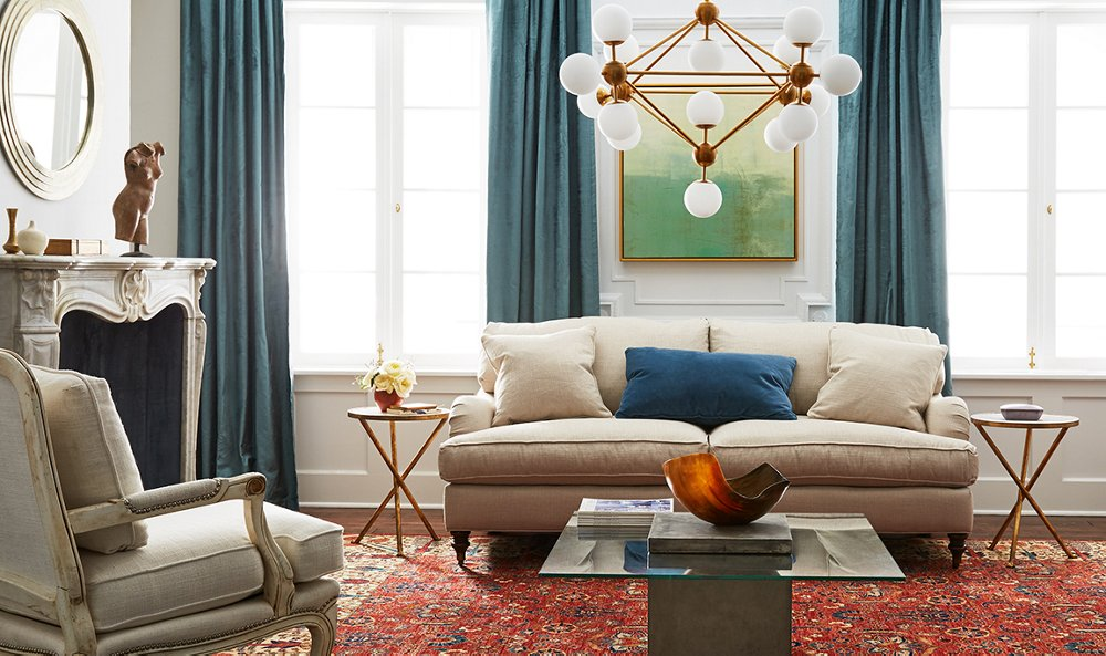 Room for Two: Traditional Meets Midcentury-Modern Design | Work ...