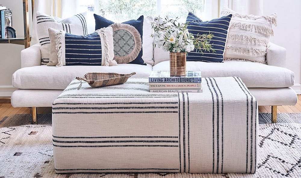 All Kim Salmela furniture (including the best-selling Quinn ottomanand the Somerset sofa) is made in a small L.A. factory. Photo courtesy of Kim Salmela.