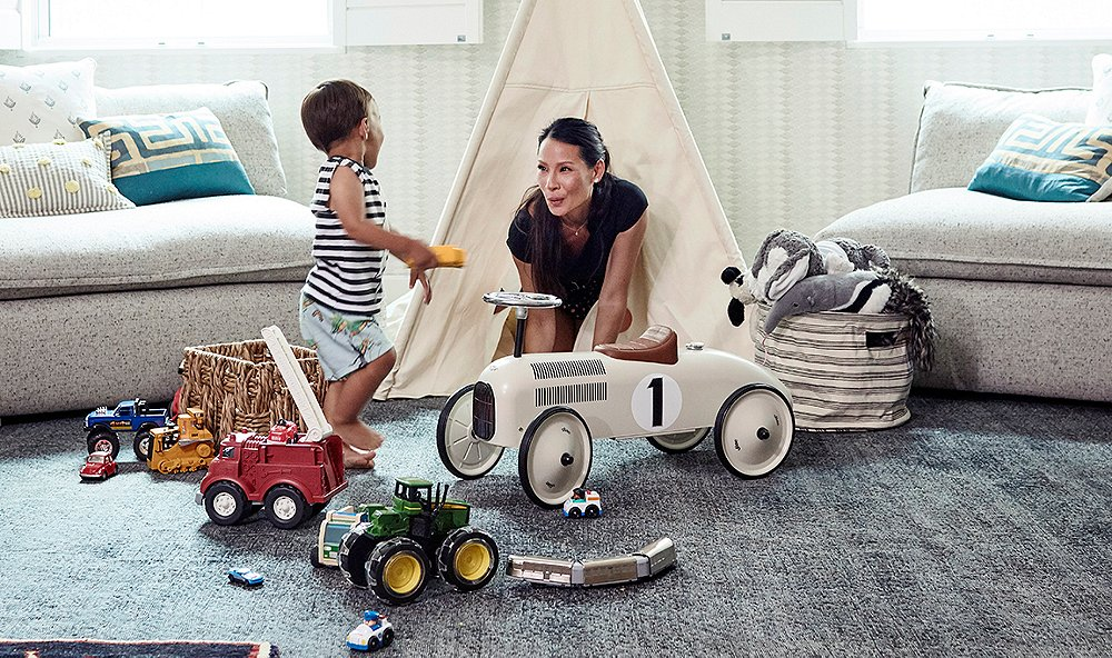 Lucy Liu's Tranquil Playroom Makeover