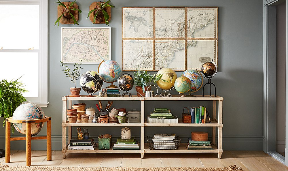 Inspiring Ideas For Decorating With Maps And Globes