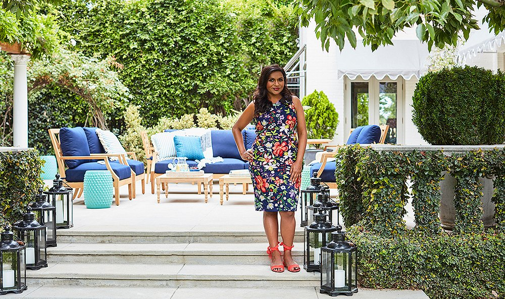 Mindy Kaling's Poolside Oasis