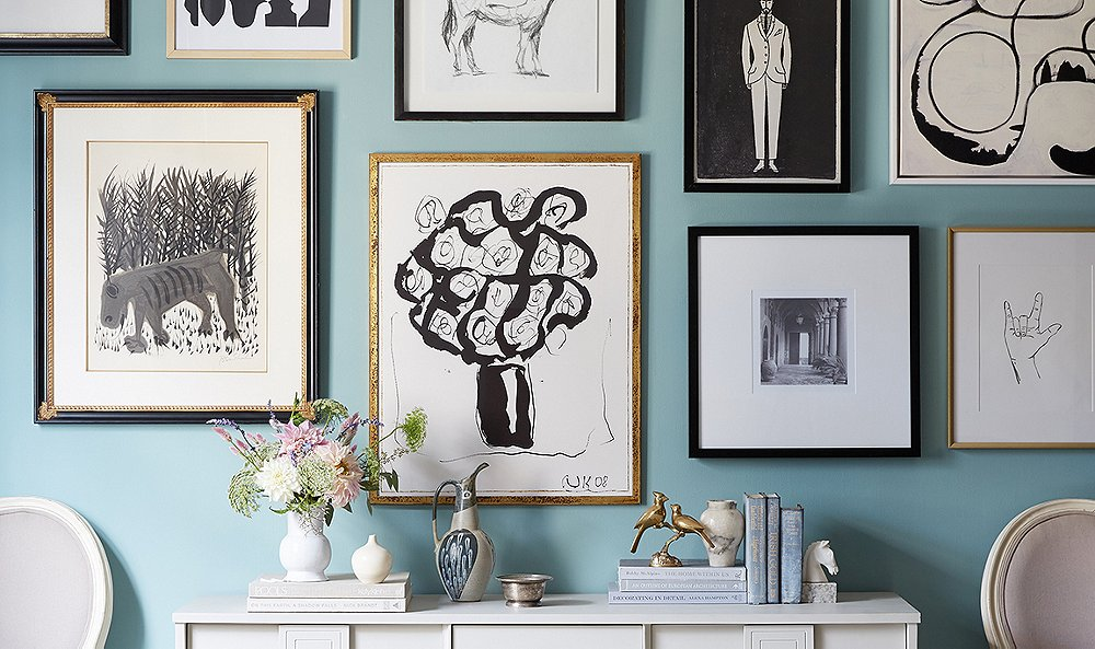 How To Hang Art Above A Console Table