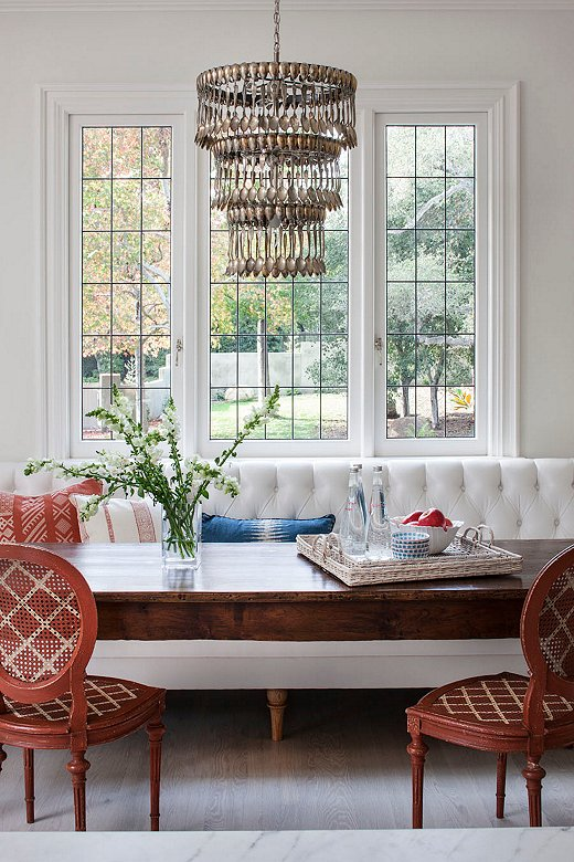 """Melissa found this funky three-tier spoon chandelier in San Francisco. """"It's super fun and speaks to a love of antiques in a unique way."""""""