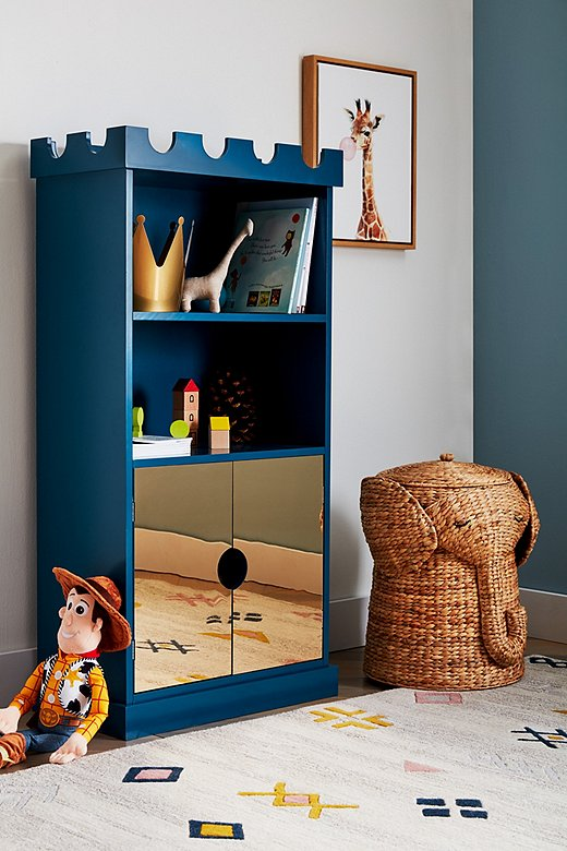 The Ellis bookcase is fit for your favorite prince or princess.
