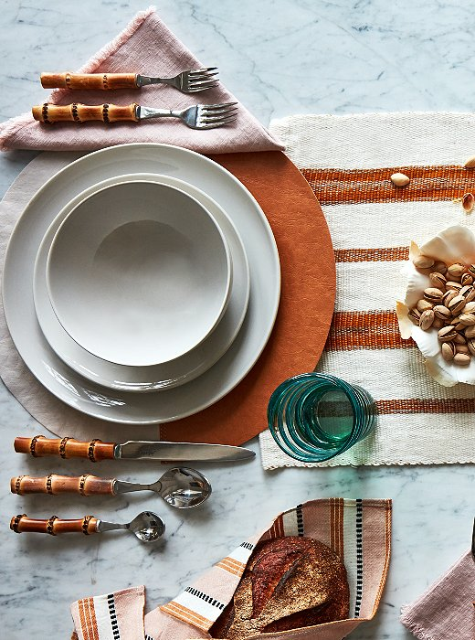 A subdued color palette adds flair to the Curator's table.