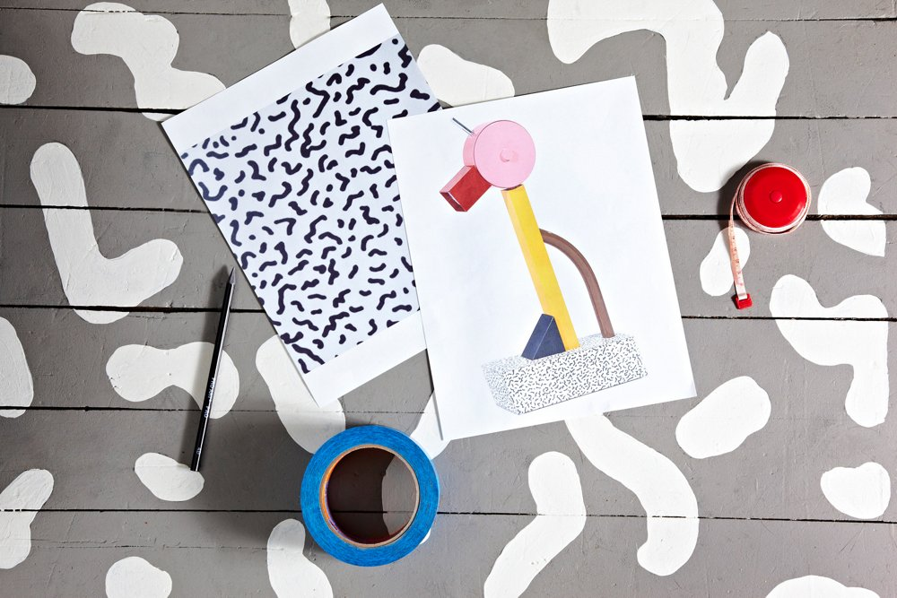 Bacterio, the iconic print we used as inspiration, is also featured on the base of this Sottsass table lamp.