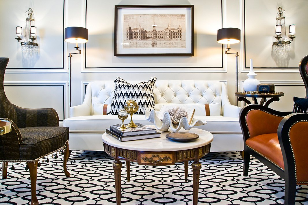 """As Corey notes on Instagram, """"Since I always code-name my projects internally, this one was dubbed Park Avenue Posh—and that became our running theme!"""" """