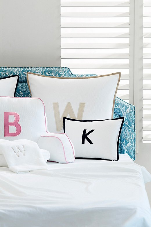 Monogrammed pillows and towels make great gifts for college students, as they give a dorm an added layer of personality.
