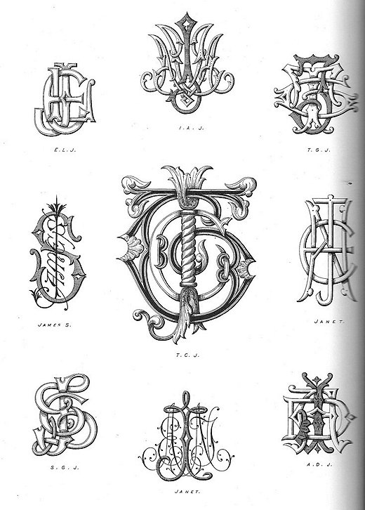 """Historically monograms were used only by the wealthiest members of society. They often included clues to the person's place in the aristocracy and familial history. """"monograms2″ by vidalia_11 is licensed under CC BY 2.0"""