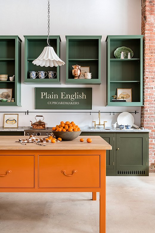 The Plain English kitchen in our Boston shop.
