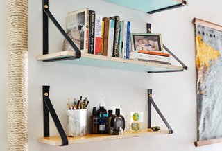 How To Create Diy Wood And Leather Shelves
