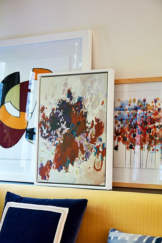 Abstract art, whatever the palette, provides a jolt of energy in any space you place it.