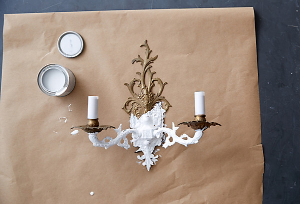 Painted Sconce Diy